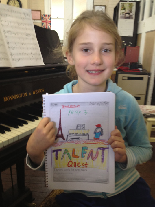 Michaela with Talent Quest drawing