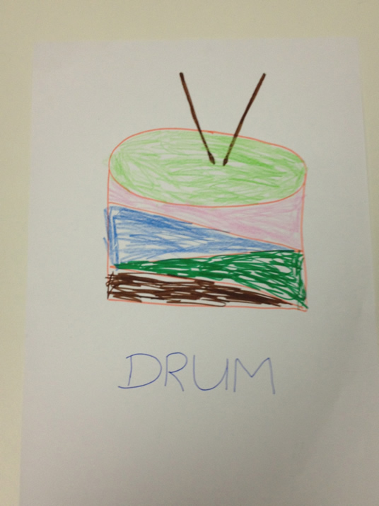 Drawing of drum