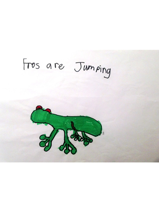 Frogs are jumping