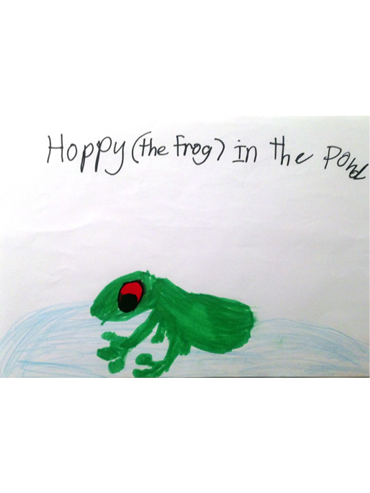Happy (the frog) in the park
